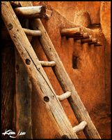 Taos Pueblo Ladder by kimjew