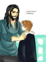 The king and a little halfling by happyz9