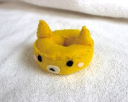 Yellow Cat Doughnut Plush by PinkChocolate14