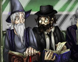 The Rabbi and the Wizard by Kabudragon