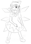 Cirno traced by GiromCalica