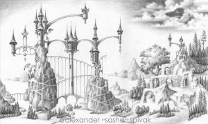 The Architectural Grace of a Whimsical Landscape. by spivakart