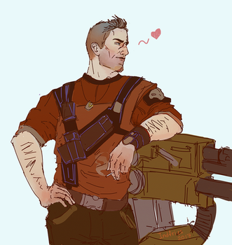 axton sketch by Indfries