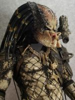 close up - repainted Neca 19 inch Predator by mangrasshopper