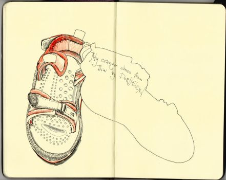EDM Challenge #1: Draw your shoe by Aliroll