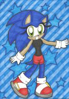 .: Female Blue Blur Appears~! :. by Serene-Snowflakes