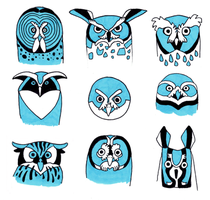 Owlfaces by Rowkey