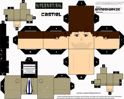 Cubeecraft - Castiel - Supernatural by AnimeShark20