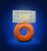 Orange Mini-Torus Lamp by davidtrumantracy