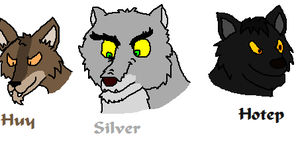 Huy, Silver and Hotep by Sooty123