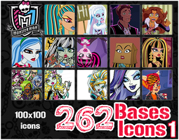 Monster High Icons Bases Pack 1 by ShiVoodoo