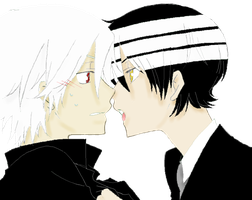 Kiss me--KiddxSoul-- FULL VIEW by Hiyume-chan