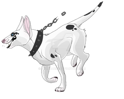 Bull Terrier Adoptable (Lineart for sale) by CyanCanine