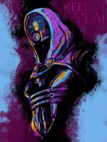 Tali'Zorah vas Normandy by nthomas-illustration