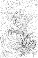X-Men 8 Cover Pencils by TerryDodson
