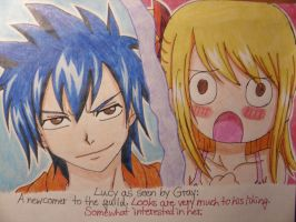 Lucy as seen by Gray by Koza-Kun