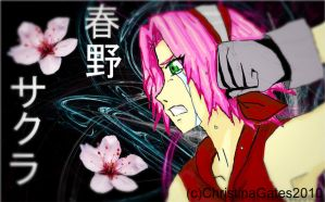 Drops of Fire Water and Sakura by broken-with-roses