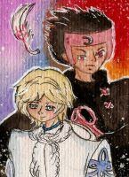 Aceo 040 - TRC- Fai and Kurogane by Kaitourose