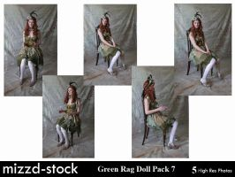 Green Rag Doll Pack 7 by mizzd-stock