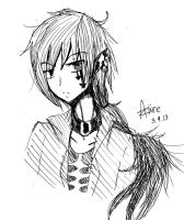 .:Rough sketch:. Hareru by Ruzuri