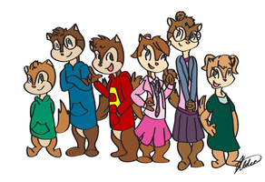 The Chipmunks and Chipettes by alvinisocoolike
