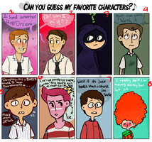 Can You Guess My Favorite Characters by markclyde
