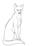 Cat Lineart 13 by Aira90