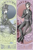 Ciel+Sebastian Bookmarks by madelezabeth