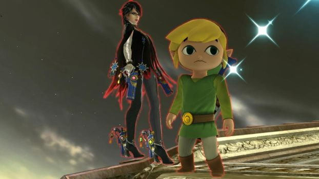 Bayonetta and Toon Link by user15432