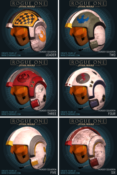 Thunder Squadron Helmets by Cameronwink