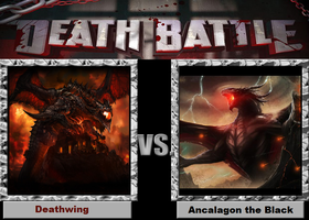 Death Battle-(Fan)-Deathwing vs. Ancalagon! by XPvtCabooseX