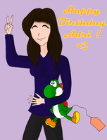 Adri and her Yoshi by ZeFrenchM