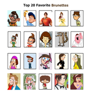 My Top 20 Favorite Toon Brunettes by Toongirl18