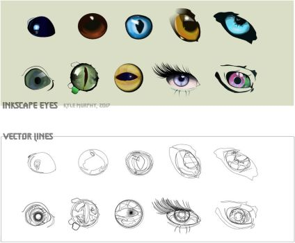 My Eye Collection - Inkscape Practice by Seothen