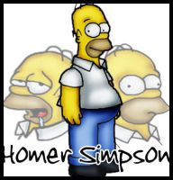 Homer Simpson by InvisibleRainArt