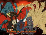 Spawn of Destruction Podcast Titlecard by AlucardWesker666