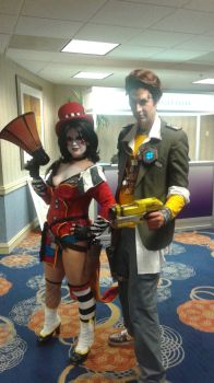 Handsome Jack and Moxxi Cosplay by LocsAlike