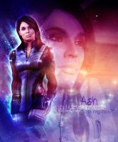 Mass Effect Ashley Art by xdarknessfalls