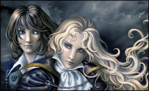 Alucard and Richter - portrait by Candra