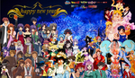 Anime Happy New Year 2015 by Cokedark11