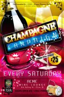Champagne Campaign Flyer by AnotherBcreation