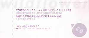 Pixel Font 1: Wildflower by topassilem
