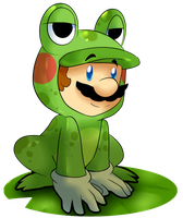 Frog Mario by BaconBloodFire