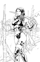 Psylocke Inks by DashMartin