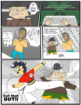MashStache: Issue 3: Page 5 (color) by SnD-Frostey