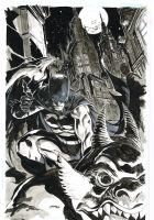 Batman on Gargoyle by popmhan