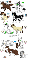 Free Puppy/Kitten Adoptable sheet I CLOSED by Sarah57255