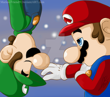 Commission: Like One (Mario and Luigi) by Marios-Friend9