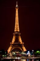 Eiffel Tower in the Night by theyoshiman