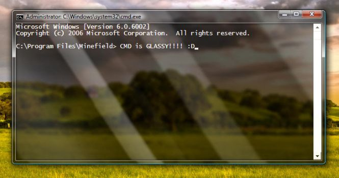Glass CMD for Vista and Seven by komalo